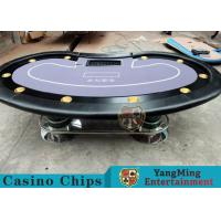 China Texas Holdem Casino 10 Person Poker Table For Gambling Games wholesale