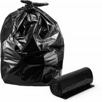 Star Sealed Heavy Duty Waste Bags , Customized Large Black Bin Bags Roll Packed