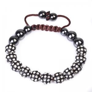 China OEM and ODM available New Design Shamballa Crystal Beaded Bracelets CJ-B-166 wholesale