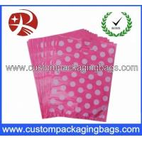 China Reusable Die Cut Handle Printed Plastic Bags With Side Seal For Shopping on sale