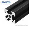 Buy cheap Customized Black Aluminium Angle Extrusion Profile from wholesalers