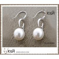 China Fashion Jewelry 925 Sterling Silver Gemstone Earrings with Imitated Pearl W-AS993 wholesale