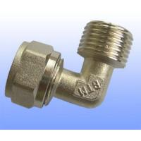 China compression brass fitting male elbow for PEX-AL-PEX wholesale