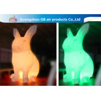 China LED Color Changing Inflatable Easter Bunny Costume , Giant Inflatable Rabbit wholesale