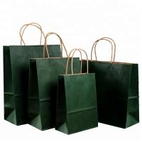 China Roller Printing Medium Paper Bags With Handles / Kraft Paper Bags Machine Made wholesale