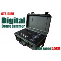 5000M GSM GPS RC Drone Jammer , Drone Signal Scrambler Low Battery Alarm Function