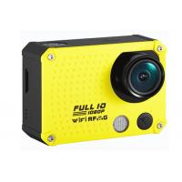 Quality Custom 60m Waterproof Full HD 60fps 1080P Action Camera / Wifi Sports Cameras for sale
