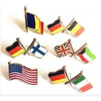 Buy cheap DF Custom Lapel Pins No Minimum Order National Flag American Flag Double Flags from wholesalers