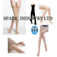 China Thigh High Medical Compression Anti Embolism Stockings For Men With Closed Toe  wholesale