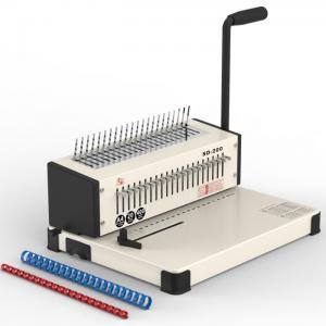 China Comb Binding Machine Book Bindi Comb Binder Machine Punch Mahine White Color wholesale