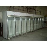 China Solid Glass Door Freezer Triple Shelves With Heater Inside wholesale