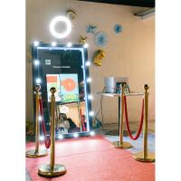 Quality 55 65 Automatic touch screen selfie cheap magic mirror photo booth for sale