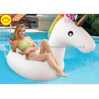 Buy cheap Inflatable Water Floating Unicorn for Swim Pool Rainbow Color Water Inflatable Unicorn Pool Float product