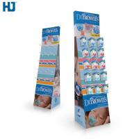 China CMYK Color Cardboard Display Shelves Customized Hooks Retail display  Baby Products cardboard display stand wholesale