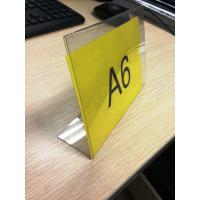 China L Shaped Acrylic Pop Displays , Plexiglass Price Tag Holder wholesale