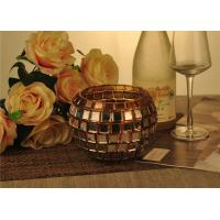 China Vintage Gold Glass Candle Holder / Candle Cups Shock Resistant With 1119ml wholesale