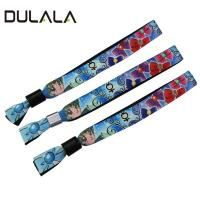 China Different Colors 15mm Heat Transfer Bracelet Lanyard for Game and Music Festival wholesale