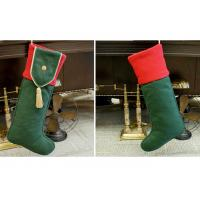 Buy cheap Plain Style Personalized Fashion Gifts Polyester Patchwork Christmas Stocking from wholesalers