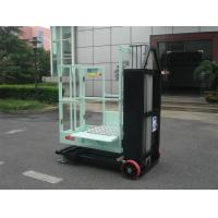 China Mast Type Semi - Electric Aerial Order Picker Manual Push Around For One Person wholesale