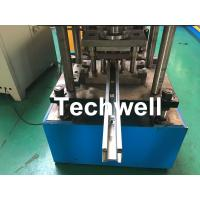 China Custom Made Sliding Shutter Door Guide Rail Roll Forming Line With Chain Drive wholesale