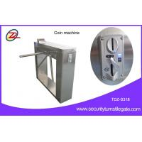 China Automatic 304 stainless steel pedestrian security gates With Swallow Coin Machine on sale