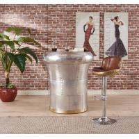 Buy cheap Tan Brown Backless Leather Counter Height Bar Stools Full Handwork Alluminium Sheet Cover from wholesalers