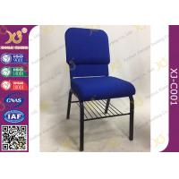 China Padded Hotel Seating Metal Stackable Church Hall Chairs With Logo / Interlock on sale