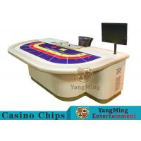 China Macao VIP Dedicated Casino Poker Table / Entertainment Baccarat Tables for 9 Players wholesale
