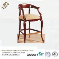 China Wooden High Bar Stools With Arms Upholstery For Bar Furniture And Bistro Furniture wholesale