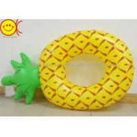 Buy cheap Light Pineapple Shape Inflatable Pool Floats Raft Swimming Tube For Adults product