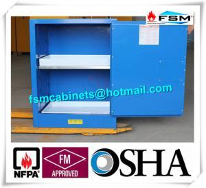 China Blue Corrosive Chemical Acid Storage Cabinet Flammable Locker Single Door wholesale