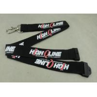 China Customized Logo Neck Id Card Lanyard , Metal Hook Lanyard For Meeting name badge lanyards on sale