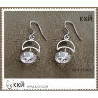 China High quality guarantee sterling silver gemstone earrings with zircon W-AS1073 wholesale