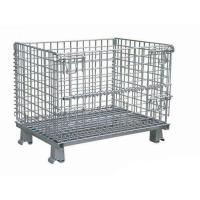 China 1000 Pounds Collapsible Steel Mesh Containers , Welded Mesh Storage Containers wholesale