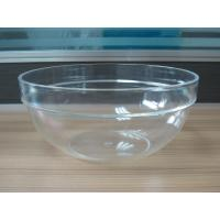 China 282g Round Salad Clear Acrylic Bowl With Customized Logo wholesale