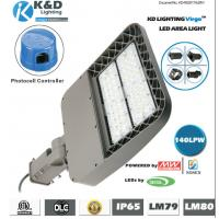 China 1.4ft Square LED Outdoor Area Street Lighting Lamp 250W 130Lm/W Efficiency wholesale