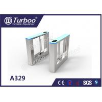 China Stable Office Security Gates / Optical Barrier Turnstiles RFID Card Reader wholesale