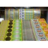 China Greaseproof Food Label Stickers , Adhesive Food Labels For Fruits / Vegetables wholesale