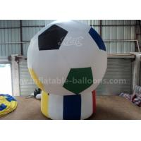 China Football Shaped Inflatable Advertising Air Balloons 3m For Sport Game Pvc Tarpaulin wholesale