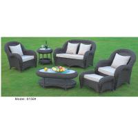 China 6piece -Star hotel sofa & chairs lobby furniture with footseat rattan sofa -9156 wholesale