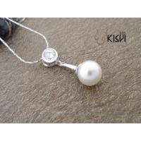 China Fashion Jewelry 925 Sterling Silver Gemstone Pendant with Imitated Pearl W-AS935 wholesale