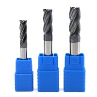 China tungsten carbide flat end mill carbide square end mill black coating HRC45-50 on sale