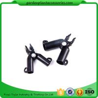 China Adjustable Garden Cane Connectors , 16mm Black Bamboo Cane Connectors 50*40*40 Free sample wholesale