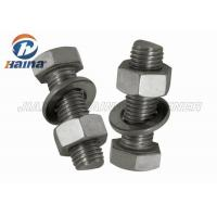 Quality GB Half Thread Hexagon Head Stainless Steel Bolts , M4-M36 Thumb Screws for sale