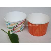China Multi Size Ice Cream Paper Cups With Lids , Disposable Ice Cream Bowls on sale