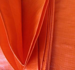China Anti UV Double orange color&100% new material 140grams polyethylene tarps/tarpaulin fabric wholesale