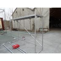Quality Walk through scaffolding Walkthrough frame with diagonal brace and polywood plank for sale