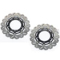China 6061 Aluminum Motorcycle Brake Disc Suzuki DL V STROM 650 GSX650F Black Gold wholesale