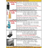 Quality 2015 Cell Phone GSM 3G 4G LTE GPS WIFI GPRS WLAN Signal Jammer Blocker Catalog Price List for sale