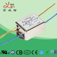 China 10A,120V 250V single-phase two-stage enhanced Electrical Noise Filter , Medical AC Power Line Noise Filter wholesale
